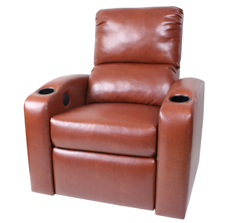 Custom Home Theater Chair Red