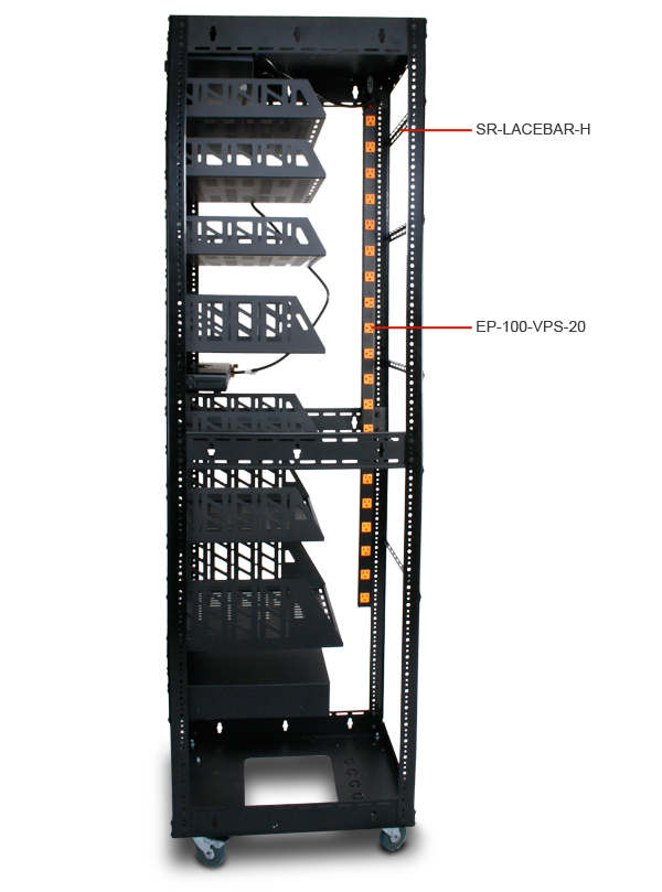 Custom Home Theater Rack Tall Side View